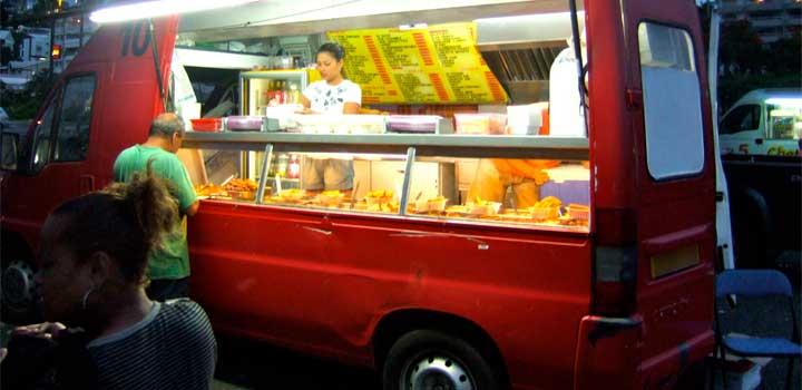 Manipular alimentos, en un restaurante móvil!!!