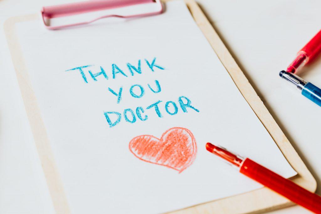 agradecimiento sanitario