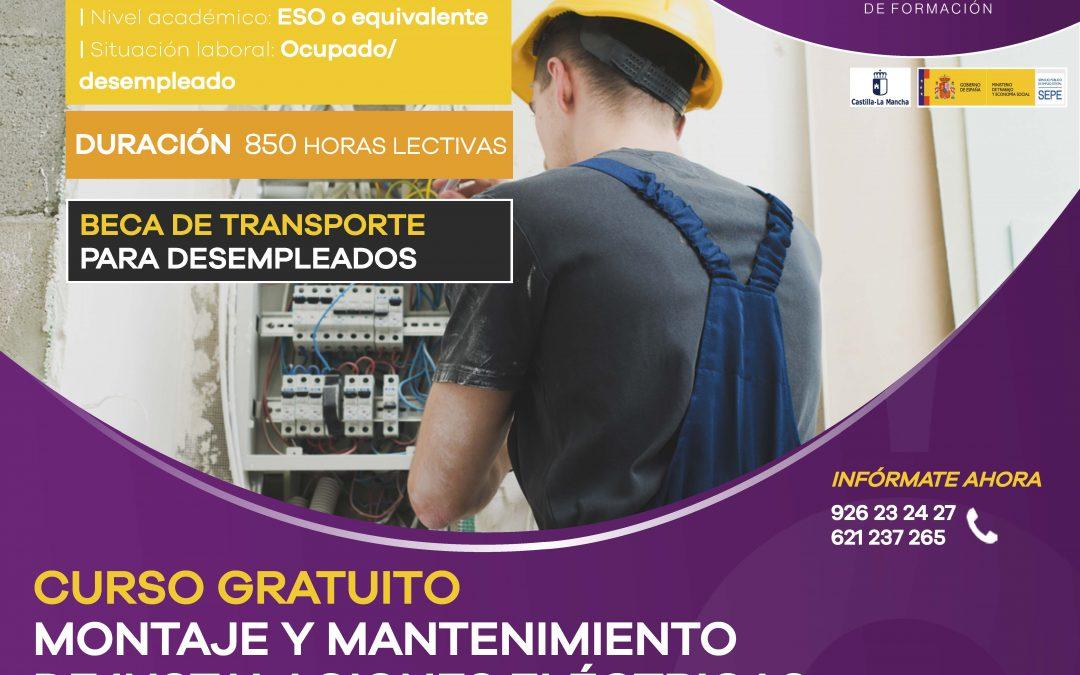 Curso Gratuito: Montaje y Mantenimiento de Instalaciones Eléctricas de Baja Tensión